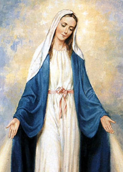 Mother Mary with arms extended