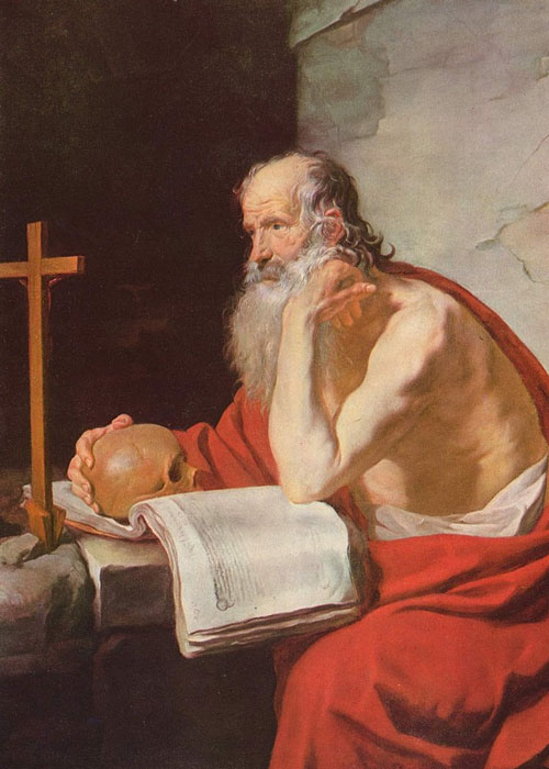 Painting of St. Jerome by Jacques Blanchard