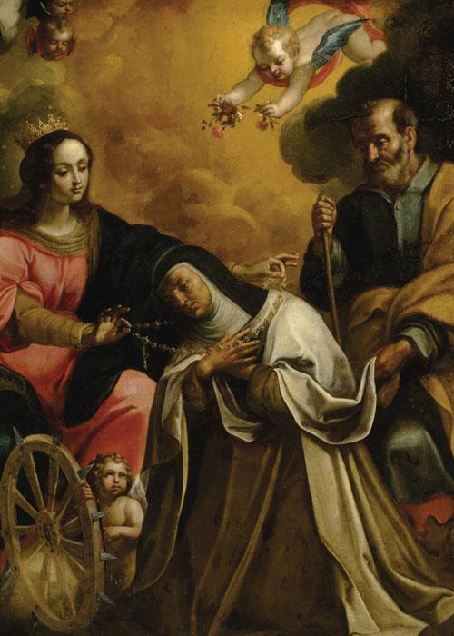 The Vision of Saint Teresa of Avila by Francesco Cozza